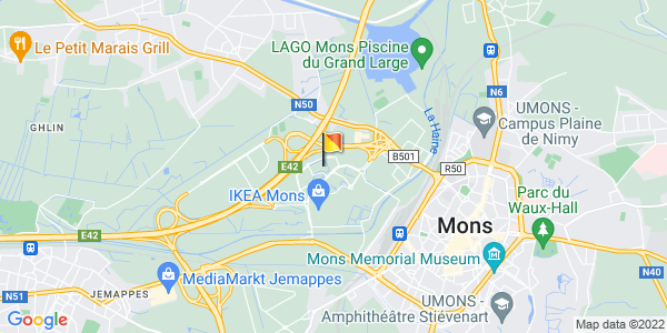 Google Map of 50.4604033, 3.9321185