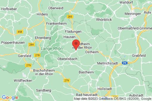 Karte Sondheim vor der Rhön