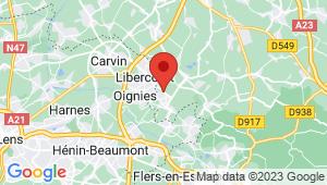 Carte de localisation du centre de contrôle technique OSTRICOURT