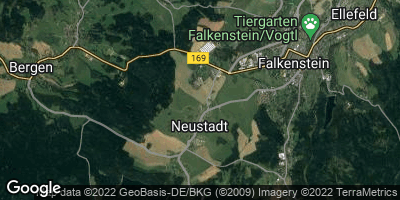 Google Map of Neustadt / Vogtland
