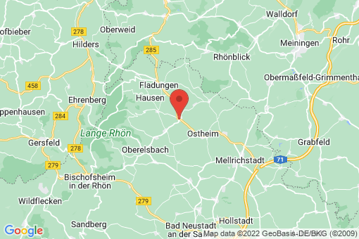 Karte Nordheim vor der Rhön