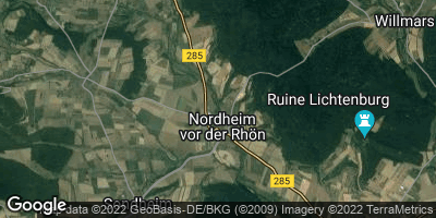 Google Map of Nordheim vor der Rhön