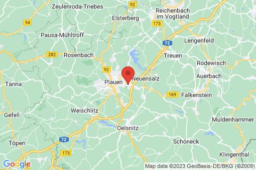 Karte Plauen