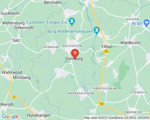 Google Karte von Rohrreinigung Dornburg
