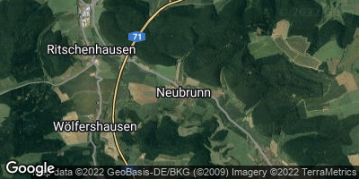 Google Map of Neubrunn bei Meiningen