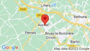 Carte de localisation du centre de contrôle technique AUCHEL