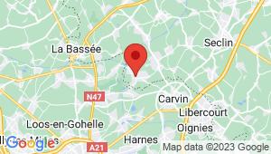 Carte de localisation du centre de contrôle technique BAUVIN
