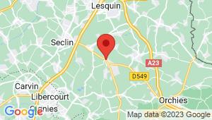 Carte de localisation du centre de contrôle technique PONT A MARCQ