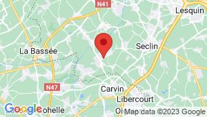Carte de localisation du centre de contrôle technique ANNOEULLIN
