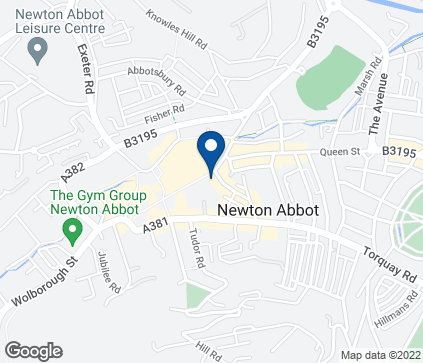 Map of 34-38 Courtenay Street in Newton Abbot