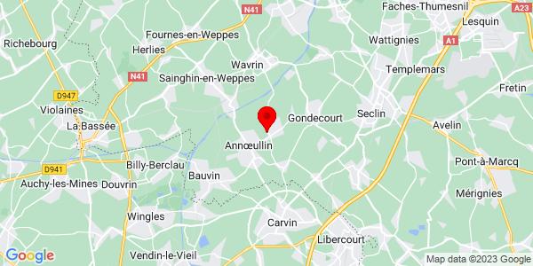 Google Map of 50.5356235,2.9457409
