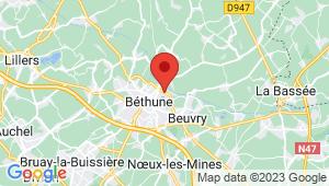Carte de localisation du centre de contrôle technique BETHUNE