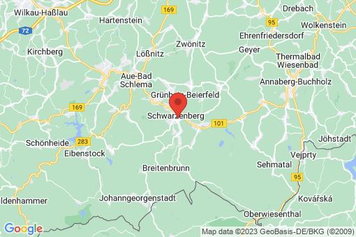 Karte Schwarzenberg/Erzgebirge