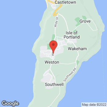 Map of The Co-operative Food Portland, Weston Road at 11B Weston Road, Weymouth, Dorset DT5 2BY
