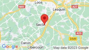 Carte de localisation du centre de contrôle technique SECLIN