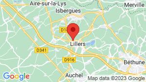Carte de localisation du centre de contrôle technique LILLERS