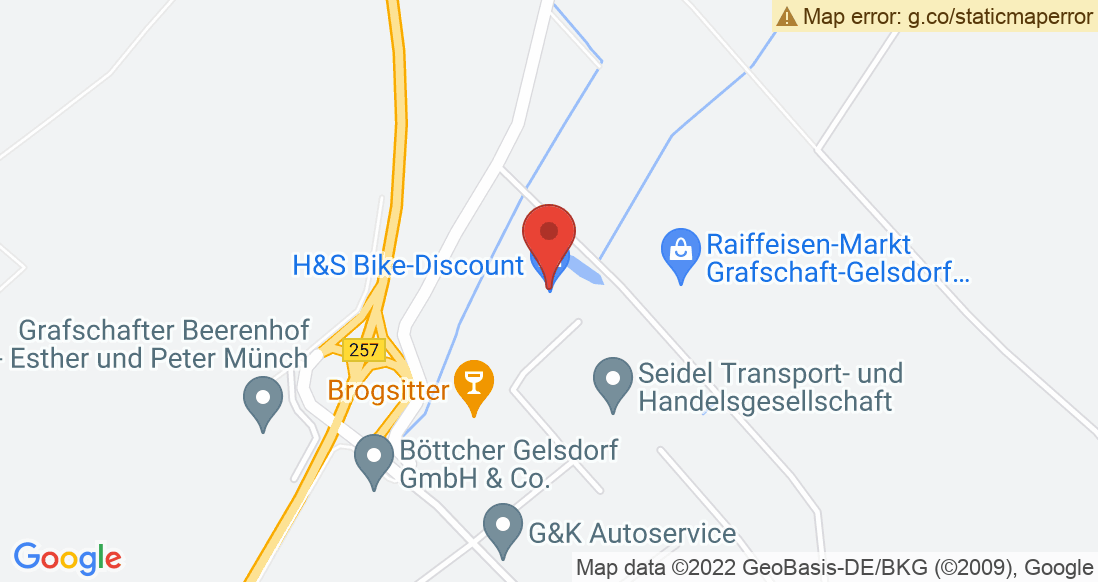 Google Map H&S Bike-Discount GmbH