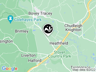 A static map of Bovey Heathfield