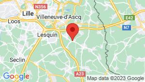 Carte de localisation du centre de contrôle technique BOUVINES