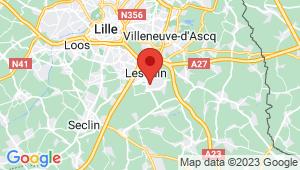 Carte de localisation du centre de contrôle technique LESQUIN