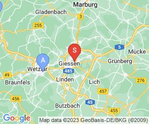 Karte für DAV-Kletterhalle Gießen -Oberhessen