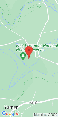 Map showing the location of the Yarner Wood monitoring site