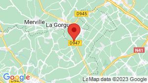 Carte de localisation du centre de contrôle technique La Gorgue