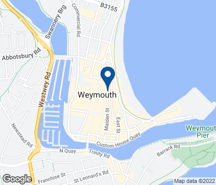 Map of 16 St. Mary Street in Weymouth