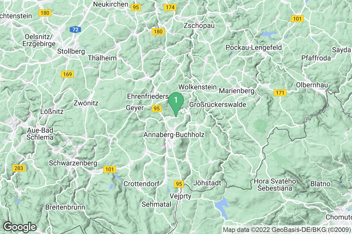 Google Map of Thermalbad Wiesenbad