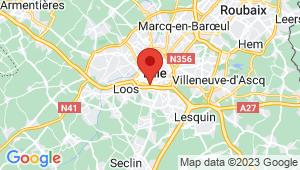 Carte de localisation du centre de contrôle technique LILLE