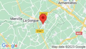 Carte de localisation du centre de contrôle technique LAVENTIE