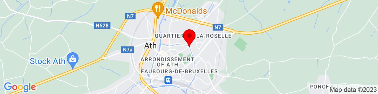Google Map of 50.63333, 3.78333