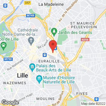 Map of Foot Locker Lille at Centre Commercial Euralille, Lille,  59777