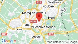 Carte de localisation du centre de contrôle technique Villeuneuve-d'ascq