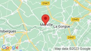 Carte de localisation du centre de contrôle technique MERVILLE