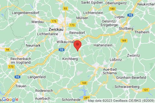 Karte Wildenfels Wiesen