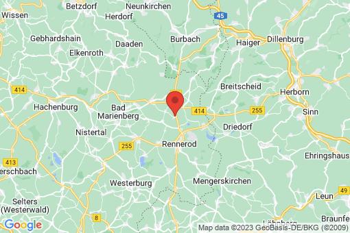 Karte Zehnhausen bei Rennerod