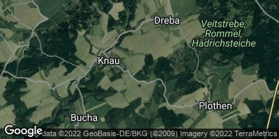 Google Map of Knau bei Pößneck