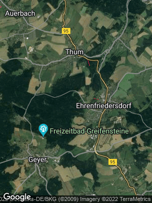 Google Map of Ehrenfriedersdorf