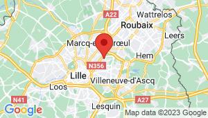 Carte de localisation du centre de contrôle technique MONS EN BAROEUL