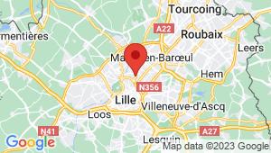 Carte de localisation du centre de contrôle technique LA MADELEINE