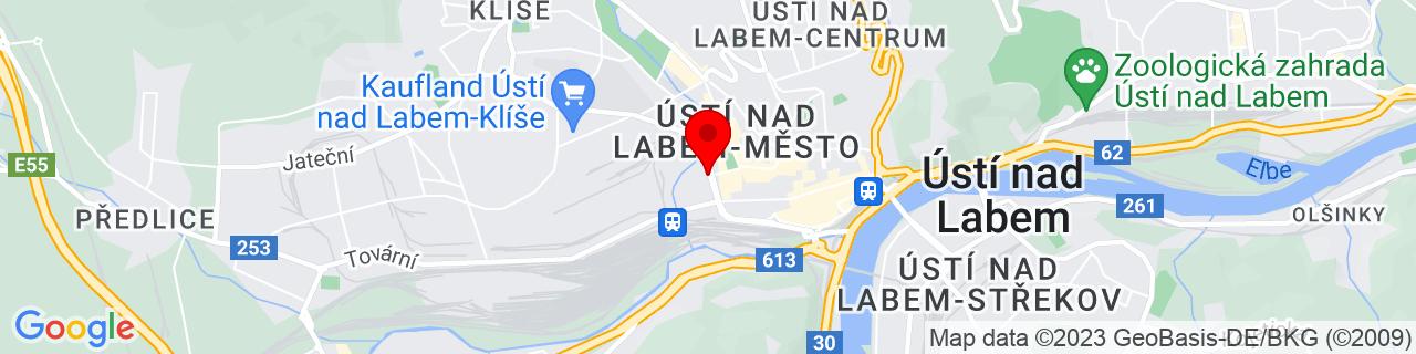 Google Map of 50.6607, 14.03227