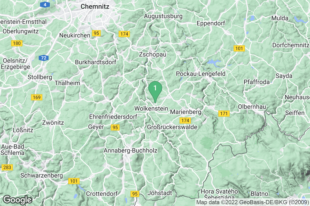 Google Map of Warmbad / Wolkenstein