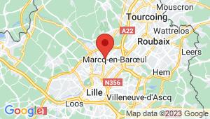 Carte de localisation du centre de contrôle technique MARCQ EN BAROEUL