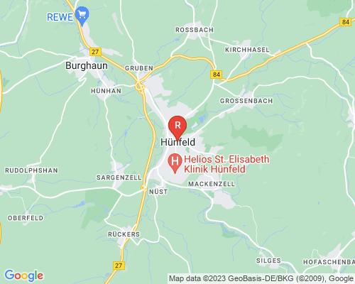 Google Karte von Rohrreinigung Hünfeld
