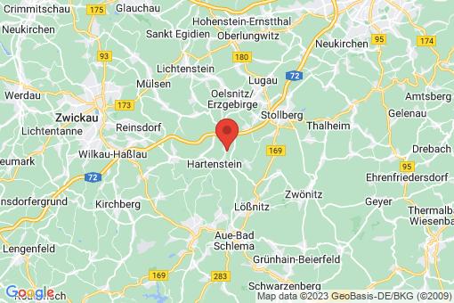 Karte Hartenstein Thierfeld