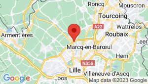 Carte de localisation du centre de contrôle technique MARQUETTE LEZ LILLE