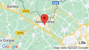 Carte de localisation du centre de contrôle technique ARMENTIERES