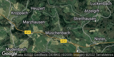 Google Map of Müschenbach