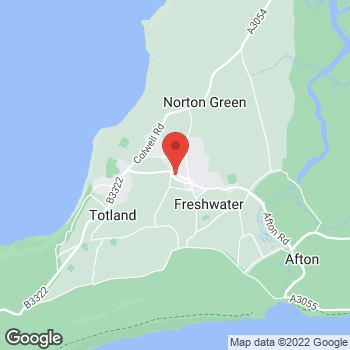 Map of The Co-operative Funeralcare at The Avenue, Freshwater, Isle Of Wight PO40 9UU